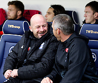 Lee Carsley of Birmingham City FC shares a joke during the Sky Bet Championship match between Millwall and Birmingham City at The Den, London, England on 21 October 2017. Photo by Carlton Myrie.