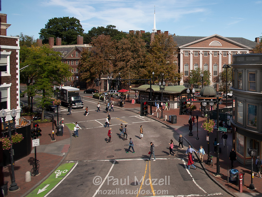 Harvard Square is the best-known crossroads in the city of Cambridge, MA View from the office of Dewey, Cheatham, and Howe