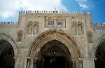 Israel, Jerusalem Old City. The façade of Al Aqsa Mosque&#xA;<br />