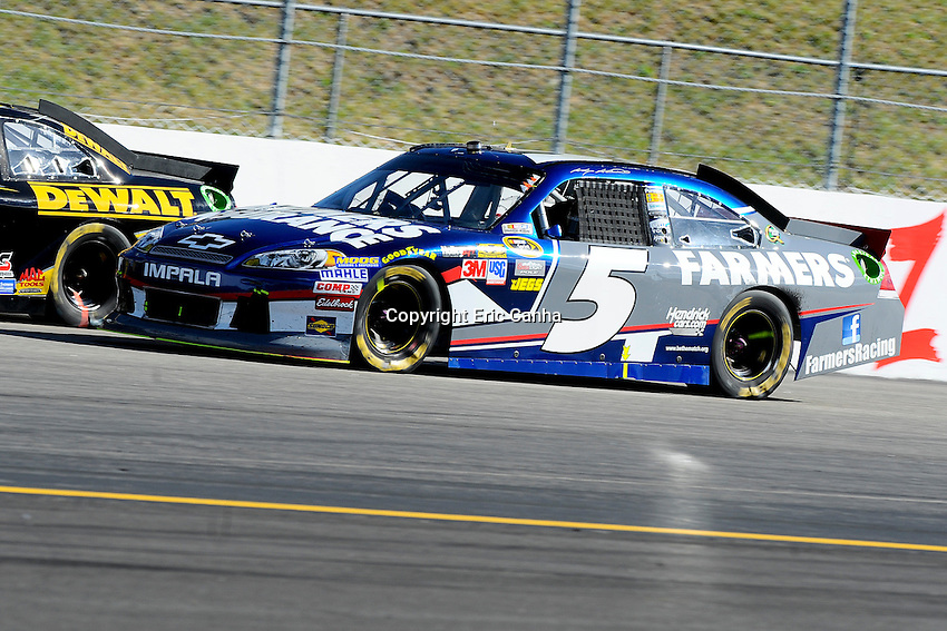 September 23, 2012 Sprint Cup Series driver Kasey Kahne (5)  races in the NASCAR Sprint Cup Series Sylvania 300 race held at the New Hampshire Motor Speedway in Loudon, New Hampshire.  Eric Canha/CSM