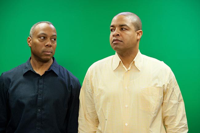 January  11, 2012 - Bristol, CT - Building 4: Both Sides of the Ball, Mike Hill and Jay Harris...Credit: Joe Faraoni/ESPN