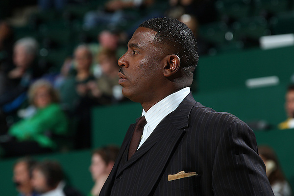 Denton, TX - NOVEMBER 16: Tony Benford head coach of the North Texas Mean Green looks on of against Cameron University Aggies at the Super Pit in Denton on November 16, 2012 in Denton, Texas. (Photo by Rick Yeatts)