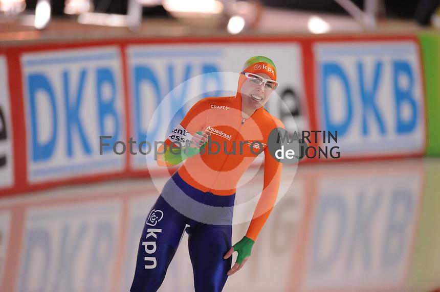 SCHAATSEN: ERFURT: Gunda Niemann-Stirnemann Halle, 02-03-2013, Essent ISU World Cup, Season 2012-2013, 1500m Ladies A, Marrit Leenstra (NED), ©foto Martin de Jong