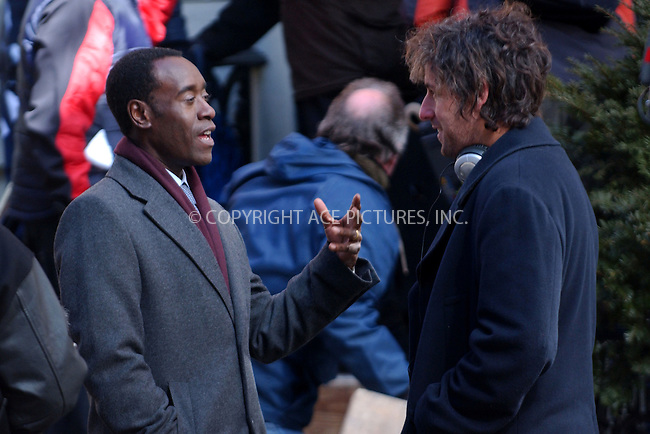 WWW.ACEPIXS.COM . . . . . ....NEW YORK, MARCH 7, 2006....Adam Sandler and Don Cheadle filiming on the set of Empty City.....Please byline: KRISTIN CALLAHAN - ACEPIXS.COM.. . . . . . ..Ace Pictures, Inc:  ..Philip Vaughan (212) 243-8787 or (646) 679 0430..e-mail: info@acepixs.com..web: http://www.acepixs.com