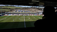 TV Camera film at Kick Off during the Sky Bet League 2 match between Wycombe Wanderers and Mansfield Town at Adams Park, High Wycombe, England on 25 March 2016. Photo by Andy Rowland.