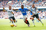 28.07.2019 Rangers v Derby County: Jermain Defoe with Mason Bennett and Richard Keogh