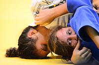 RIO DE JANEIRO, RJ,30 DE AGOSTO DE 2013 -CAMPEONATO MUNDIAL DE JUDÔ RIO 2013- A brasileira Mayra Aguiar (de branco) derrotou, na repescagem, a turca Victoriia Turks na categoria 78kg no Mundial de Judô Rio 2013, no Maracanazinho de 26 de agosto a 01 de setembro, zona norte do Rio de Janeiro.FOTO:MARCELO FONSECA/BRAZIL PHOTO PRESS