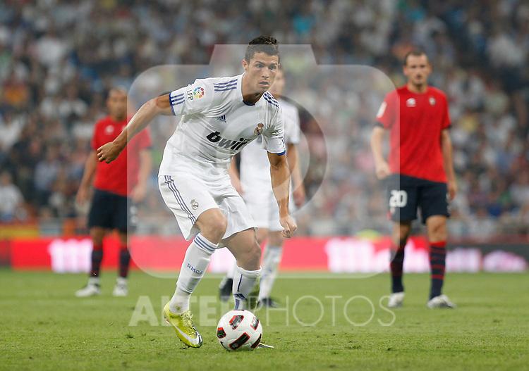 Madrid (11/09/10).- Estadio Santiago Bernabeu..Campeonato Nacional de Liga 2ª Jornada..Real Madrid 1- Osasuna 0.Cristiano Ronaldo...© Alex Cid-Fuentes/ALFAQUI
