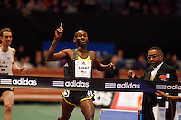Bernard Lagat winning the 101st. Edition of the MILLROSE GAMES Wanamaker Mile with a time of 3:57.51sec. on Friday, February 1, 2008.Photo by Errol Anderson,The Sporting Image..