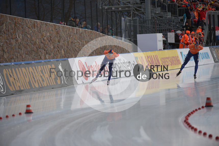 SPEED SKATING: COLLALBO: Arena Ritten, 13-01-2019, ISU European Speed Skating Championships, European Champions Allround Sven Kramer (NED), Patrick Roest, ©photo Martin de Jong