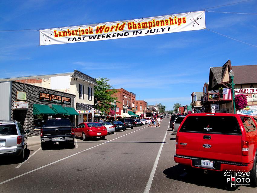 Downtown Hayward, Wisconsin.