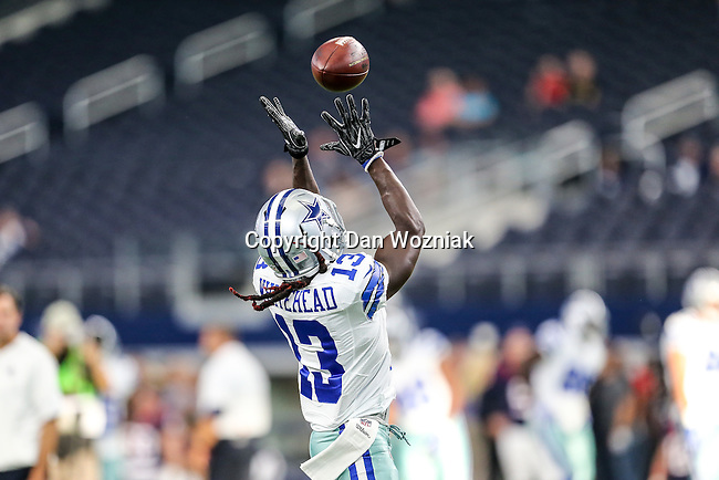 Dallas Cowboys wide receiver Terrance Williams (83) in action before the pre-season game between the Houston Texans and the Dallas Cowboys at the AT & T stadium in Arlington, Texas.
