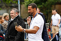 Rio Ferdinand arrives before the UEFA Champions League Final match between Juventus and Real Madrid at the Principality Stadium on June 3rd 2017 in Cardiff, Wales. <br /> Cardiff 03-06-2017  Cardiff National Stadium Millennium Stadium<br /> Football Champions League Final 2016/2017 <br /> Juventus - Real Madrid<br /> Foto Panoramic / Insidefoto