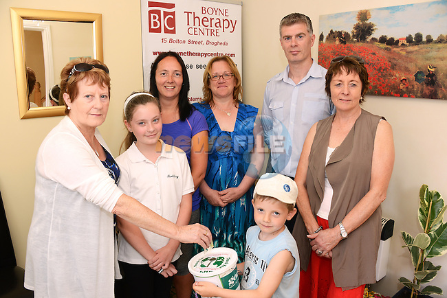 Margaret O'Brien, Emma O'Brien, Cathal O'Malley(5) Paula O'Malley, John O'Brien and Helen Segrave at the Boyne Therapy Centre open day. www.newsfile.ie