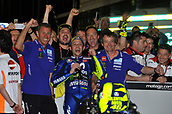 18th March 2018, Losail International Circuit, Lusail, Qatar; Qatar Motorcycle Grand Prix, Sunday race day; Valentino Rossi (Movistar Yamaha)celebrates his 3rd place