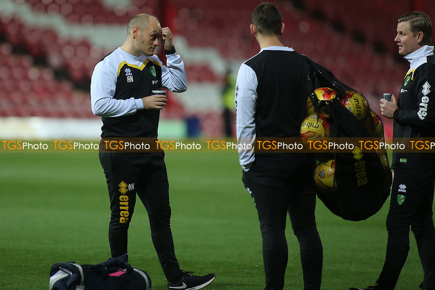 Norwich Manager, Alex Neil, scratches his head pre-match during Brentford vs Norwich City, Sky Bet EFL Championship Football at Griffin Park on 31st December 2016