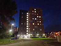 2020 07 28 Women falls from a building in Matthew Street in Swansea, Wales, UK.