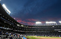 Wrigley Field,<br /> OCTOBER 15, 2016 - MLB :<br /> A general view inside of Wrigley Field at sunset before the National League Championship Series (NLCS) Game 1 between the Chicago Cubs and the Los Angeles Dodgers in Chicago, Illinois, United States. (Photo by AFLO)