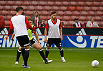 George Baldock of Sheffield Utd warms up during the Carabao Cup, second round match at Bramall Lane, Sheffield. Picture date 22nd August 2017. Picture credit should read: Simon Bellis/Sportimage