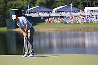 Nicolas Colsaerts (BEL) putts on the 14th green during Thursday's Round 1 of the 2017 PGA Championship held at Quail Hollow Golf Club, Charlotte, North Carolina, USA. 10th August 2017.<br /> Picture: Eoin Clarke | Golffile<br /> <br /> <br /> All photos usage must carry mandatory copyright credit (&copy; Golffile | Eoin Clarke)