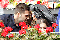 Real Madrid's Felipe Reyes with his wife Kirenia Cabrera during Madrid Open Tennis 2016 match.May, 6, 2016.(ALTERPHOTOS/Acero) /NortePhoto