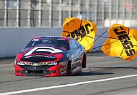 Feb 7, 2020; Pomona, CA, USA; NHRA pro stock driver Alex Laughlin during qualifying for the Winternationals at Auto Club Raceway at Pomona. Mandatory Credit: Mark J. Rebilas-USA TODAY Sports