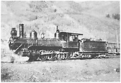 RGS 4-6-0 #25 (1st) in Rico yard.<br /> RGS  Rico, CO  Taken by Laube, Winfield G. - 1909-1916