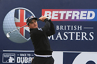 Paul Dunne (IRL) on the 10th tee during the Pro-Am of the Betfred British Masters 2019 at Hillside Golf Club, Southport, Lancashire, England. 08/05/19<br /> <br /> Picture: Thos Caffrey / Golffile<br /> <br /> All photos usage must carry mandatory copyright credit (&copy; Golffile | Thos Caffrey)