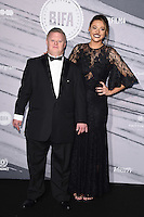 Steven Brandon and Shana Swash<br /> at the British Independent Film Awards 2016, Old Billingsgate, London.<br /> <br /> <br /> ©Ash Knotek  D3209  04/12/2016
