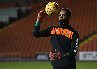 Blackpool's Christoffer Mafoumbi<br /> <br /> Photographer Rachel Holborn/CameraSport<br /> <br /> The EFL Checkatrade Trophy Group C - Blackpool v Accrington Stanley - Tuesday 13th November 2018 - Bloomfield Road - Blackpool<br />  <br /> World Copyright © 2018 CameraSport. All rights reserved. 43 Linden Ave. Countesthorpe. Leicester. England. LE8 5PG - Tel: +44 (0) 116 277 4147 - admin@camerasport.com - www.camerasport.com