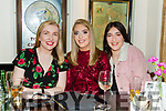 The staff of the Manor West Hotel enjoying the night out in the Brogue Inn on Sunday night.<br /> L-r, Claire Ahern, Megan Collins and Erin Moss.