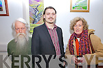 At the exhibition opening on Friday night in Ionad na Dromada of Mountain life of the Inny Valley were l-r; Brian Ó Ríordain, Radek Kowalski(Artist) & Ryna O'Shea.