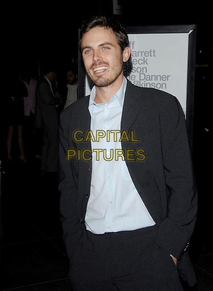 """CASEY AFFLECK.L.A. Premiere of """"The Last Kiss"""" held at The DGA in West Hollywood, California, USA..September 13th, 2006.Ref: DVS.half length blue suit jacket stubble facial hair.www.capitalpictures.com.sales@capitalpictures.com.©Debbie VanStory/Capital Pictures"""