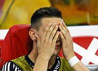 Niklas Süle (Deutschland Germany) kann nicht mehr hinsehen - 13.10.2018: Niederlande vs. Deutschland, 3. Spieltag UEFA Nations League, Johann Cruijff Arena Amsterdam, DISCLAIMER: DFB regulations prohibit any use of photographs as image sequences and/or quasi-video.