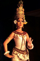 """Khmer classical dance is frequently called """"Apsara Dance"""" reflecting the belief that the Khmer classical dance of today is connected by an unbroken tradition to the courts of the Angkor monarchs, which drew its inspiration from mythological gods and from its celestial dancers, the Apsaras."""