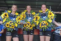 KAATSEN: WEIDUM: 19-08-2015, Sjoukje Visser, Manon Scheepstra(Koningin) en Ilse Tuinenga, winnen de Dames PC, ©foto Martin de Jong