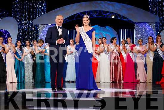 Offaly Rose, Jennifer Byrne is crowned Rose of Tralee with presenter Dáithí Ó Sé in the Dome on Tuesday Night.