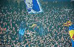 Stockholm 2014-04-16 Fotboll Allsvenskan Djurg&aring;rdens IF - AIK :  <br /> Djurg&aring;rdens supportrar<br /> (Foto: Kenta J&ouml;nsson) Nyckelord:  Djurg&aring;rden DIF Tele2 Arena AIK supporter fans publik supporters