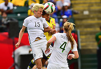 Edmonton, Canada - Monday, June 22, 2015: The USWNT defeat Colombia 2-0 in round of 16 knockout play at the 2015 FIFA Women's World Cup at Commonwealth Stadium.