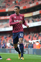 Sebastien Haller of West Ham United warms up during Arsenal vs West Ham United, Premier League Football at the Emirates Stadium on 7th March 2020