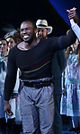 Joshua Henry during the Opening Night Curtain Call for 'Carousel' at the Imperial Theatre on April 12, 2018 in New York City.