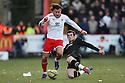 Gareth Bale of Spurs tackles Lawrie Wilson of Stevenage. Stevenage v Tottenham Hotspur - FA Cup 5th Round - Lamex Stadium, Stevenage - 19th February 2012 . © Kevin Coleman 2012