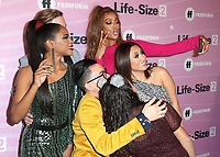 """HOLLYWOOD - NOVEMBER 27:  Shanica Knowles, Gavin Stenhouse, Tyra Banks, Hank Chen, Allison Fernandez and Francia Raisa at the """"Life Size 2"""" World Premiere on November 27, 2018 at the Hollywood Roosevelt Hotel in Hollywood, California. (Photo by Scott Kirkland/PictureGroup)"""