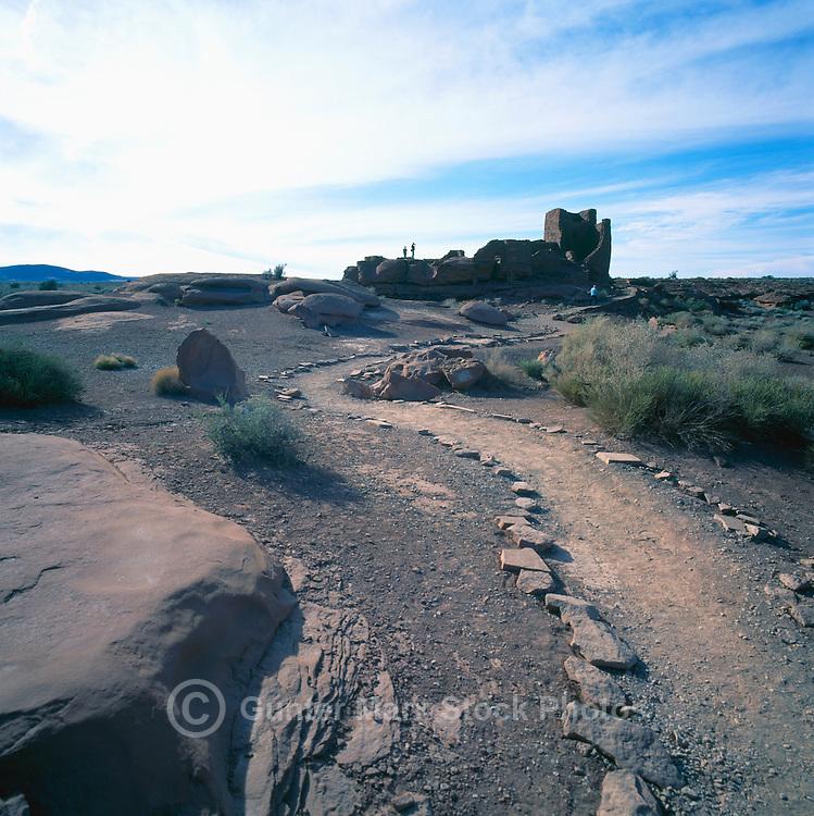 Wukoki Ruin in Wupatki National Monument, near Flagstaff, Arizona, USA - Ancestral Puebloan / Anasazi House, Dwelling Ruins
