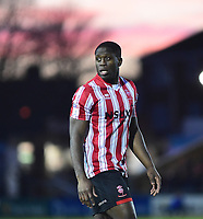 Lincoln City's John Akinde<br /> <br /> Photographer Andrew Vaughan/CameraSport<br /> <br /> The EFL Sky Bet League Two - Lincoln City v Port Vale - Tuesday 1st January 2019 - Sincil Bank - Lincoln<br /> <br /> World Copyright © 2019 CameraSport. All rights reserved. 43 Linden Ave. Countesthorpe. Leicester. England. LE8 5PG - Tel: +44 (0) 116 277 4147 - admin@camerasport.com - www.camerasport.com