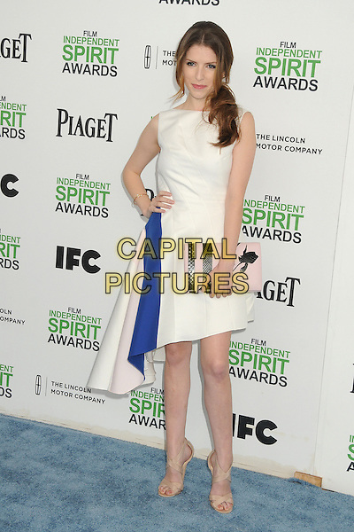 1 March 2014 - Santa Monica, California - Anna Kendrick. 2014 Film Independent Spirit Awards - Arrivals held at Santa Monica Beach. <br /> CAP/ADM/BP<br /> &copy;Byron Purvis/AdMedia/Capital Pictures