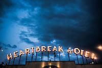 Heartbreak Hotel, a pop up bar in East London, England