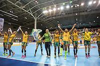 TORONTO, CANADA, 24.07.2015 - PAN-HANDBALL - Jogadoras do Brasil após partida contra Argentina na final do Handball Feminino no Centro de Exposições de Toronto nesta sexta-feira, 24. (Foto: William Volcov/Brazil Photo Press)