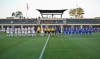STANFORD, CA - September 12, 2012: Starting lineups for the Stanford vs San Jose St. men's soccer match in Stanford, California. Final score, Stanford 2, San Jose St. 1 in overtime.