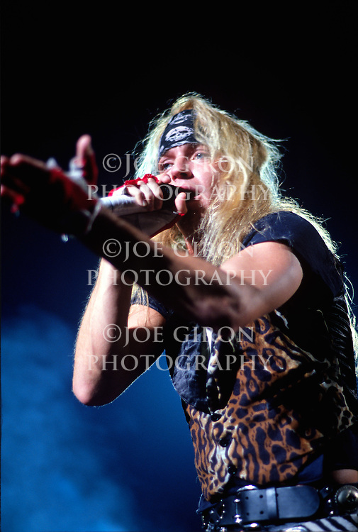 Various portraits & live photographs of the rock band, Poison